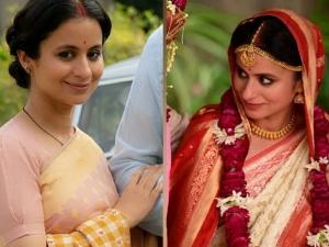 A Suitable Boy Actress Rasika Dugal In A Peach Saree And Red Saree