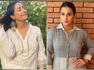 Vidya Balan Hina Khan And Other Divas Comfy Kurtis For Eid Al Adha