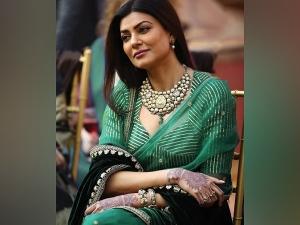Aarya Actress Sushmita Sen In A Green Saree