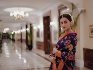 Taapsee Pannu S Saree Looks On Her Birthday