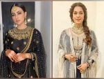 Juhi Chawla And Sana Khan S Black Ensembles For Eid Al Adha