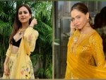 Aamna Sharif And Sargun Mehta Give Fashion Goals For Haldi Ceremony In Yellow Outfits