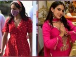 Atrangi Re Actress Sara Ali Khan In A Pink Ethnic Suit And Red Western Dress