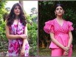 Dil Bechara Actress Sanjana Sanghi S Pink Outfits