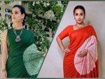Vidya Balan And Dia Mirza S Same Saree In Different Colours