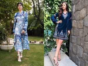 Sanjana Sanghi And Amyra Dastur S Blue Dresses