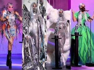 Lady Gaga S Mask Looks And Outfits At Mtv Vma Awards