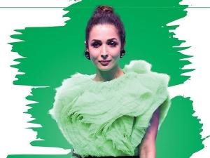 Malaika Arora In A Green Dramatic Dress For Raksha Bandhan Special Episode