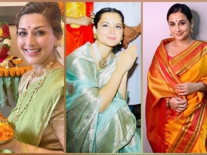 Vidya Balan Kangana Ranaut And Sonali Bendre In Saree For Ganpati Celebration
