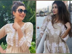 Mouni Roy And Karishma Tanna Give Ethnic Fashion Goals For Ganpati Visarjan