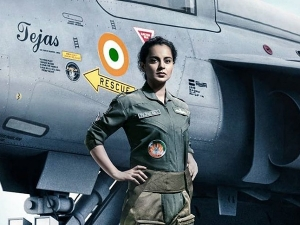Kangana Ranaut In Airforce Pilot S Uniform In The Look Poster Of Tejas