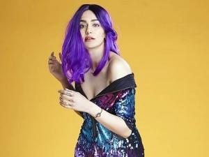 Adah Sharma S Purple Tresses Look And The Blazing Purple Dress