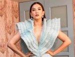 Gauahar Khan S Powder Blue Gown From Bigg Boss Promo