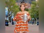 Us Open Champion Naomi Osaka S Orange Dress And Tupac Shakur Sweater