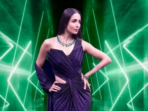 Malaika Arora In Sparkling And Expensive Saree Gown For India S Best Dancer