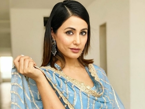 Hacked Actress Hina Khan Give Fashion Goals In Her Blue Sharara Suit