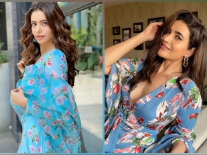Karishma Tanna And Aamna Sharif Exudes Positive Vibes In Their Blue Floral Outfits