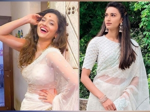 Ankita Lokhande And Erica Fernandes Flaunt Their Beautiful White Sarees