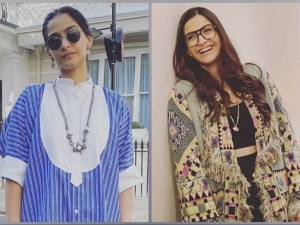 Neerja Actress Sonam Kapoor Flaunts Semi Formal And Fashionable Look