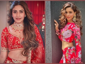 Aamna Sharif And Surbhi Chandna Gives Fashion Goals In Red Floral Ensembles