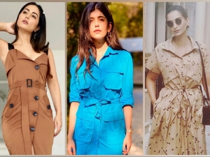Sonam Kapoor Sanjana Sanghi And Hina Khan In Lovely Belted Dresses
