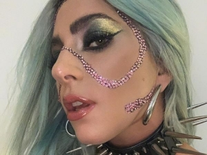 Lady Gaga Wears Rhinestones On Face And Creates A Wow Make Up Moment