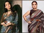 Vidya Balan And Nora Fatehi Flaunt Jj Valaya S Printed Sarees