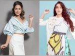 Bigg Boss Senior Hina Khan And Bollywood Actress Nora Fatehi In Pretty Skirt And Top