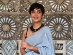 Four More Shots Please Actress Sayani Gupta Gives Navratri Fashion Goals In Blue Saree
