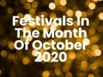 List Of Indian Festivals In October