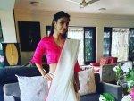 Tanishaa Mukerji S Saree Look On Her Instagram For Durga Ashtami