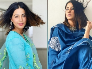 Kasautii Zindagii Kay Actress Hina Khan S Blue Ethnic Suits On Her Birthday
