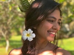 Petta Actress Malavika Mohanan In A Pretty Draped Gown In Goa