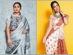 Hina Khan Vidya Balan And Other Divas Saree Pants For Navaratri