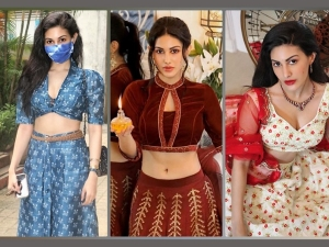 Amyra Dastur S Festive Perfect Ethnic Outfits For This Navratri