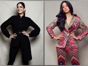 A Suitable Boy Actress Tanya Maniktala In Black And Multicolour Pantsuits