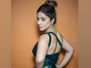 Bigg Boss Senior Hina Khan In A Green Dramatic Dress For Latest Episode