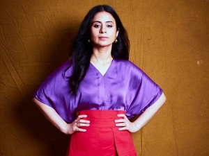 Rasika Dugal In Purple Top And Red Skirt For Mirzapur Promotions