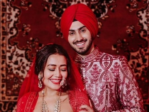 Neha Kakkar And Rohanpreet Singh S Colour Coordinated Outfits From Their Wedding Day