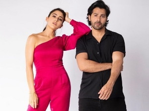 Sara Ali Khan And Varun Dhawan S Outfits From Coolie No 1 Promotions