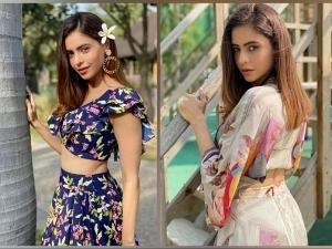 Kahiin To Hoga Actress Aamna Sharif In Two Beautiful Crop Top And Skirt Combinations
