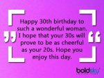 Happy 30th Birthday Wishes Quotes Messages Images