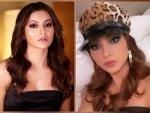 Pagalpanti Actress Urvashi Rautela S Blue And Pink Eye Makeup Looks
