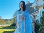 Sunny Leone S Powder Blue Salwar Suit On Diwali