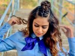 Jamai Raja Actress Nia Sharma S Half Dutch Top Knot Hairstyle