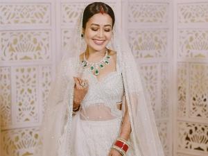 Neha Kakkar S Silver Lehenga From Her Wedding Reception