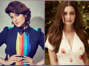 Tahira Kashyap In Red Dress And Dia Mirza In Different Formal Suits For Covershoot