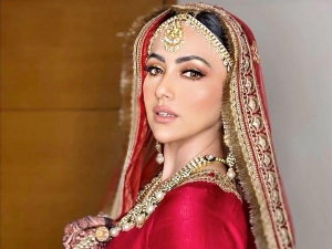 Bigg Boss 6 Fame Sana Khan S Makeup Look From Her Wedding