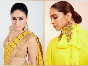 Deepika Padukone Kareena Kapoor Khan And Other Divas In Yellow Festive Sarees