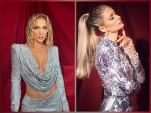 Jennifer Lopez Cara Delevingne Dua Lipa And More In Silver Outfits At Amas